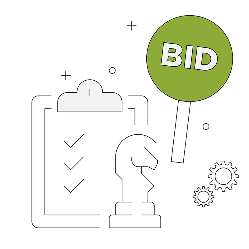 Bidding and Planning